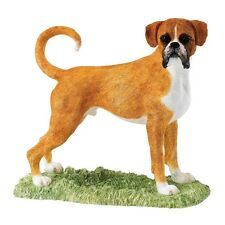 BFA Boxer Tan & White Studio Dog Ornament (A25678) NEW Xmas Gift Idea
