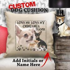 Personalizzata Capelli Corti chihuahua cane cucciolo VINTAGE Cuscino customr CANVAS REGALO