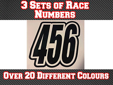 "3 Sets 5"" 125mm Custom Race Number Vinyl Stickers Decals MX Motocross Bike N18"