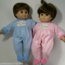 MATCHING Elephant PAJAMA PJs Doll Clothes For Bitty Baby Boy & Girl Twins (Debs)