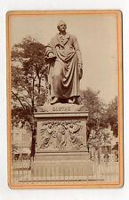 PHOTO ANCIENNE CARTE CABINET - Francfort Statue Sculpture de Goethe Avant 1900