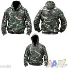 MENS ARMY HOODIE FULL ZIP JACKET DPM CAMO FLEECE LINED HOODY AIRSOFT HOOD
