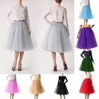 5 Layer Tulle Tutu Underskirt Swing Vintage Petticoat Fancy Net Skirt Rockabilly