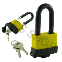 50mm Long Shackle Tall Weather Proof Laminated Lock Steel Padlock With 2 Keys