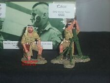 KING AND COUNTRY EA22 WORLD WAR TWO 8TH ARMY SAS MORTAR TEAM TOY SOLDIER SET
