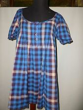 JACK WILLS TARTAN LOOSE FITING TUNIC/ DRESS  SIZE UK 10 NEW
