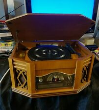 Vintage Wooden Music record player, Radio AM/FM, CD player