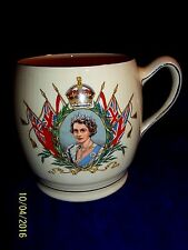 1953 CORONATION Royal Winton Queen Elizabeth II  LARGE  Porcelain  Mug