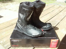 RST R-16 Motorcycle Race Riding Boots Black US Mens 10 EU43 Gaerne Sidi TCX