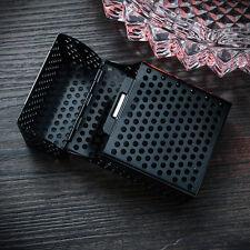 Zigarettenetui Zigaretten Alu Dose Box Etui Case Schachtel Zigarettenbox Schwarz