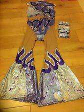 STUNNING USED DANCE COSTUME FREESTYLE,traveller rigout,latin,disco,slow  FR