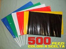 COREOGRAFIA bandiere da stadio plastica STOCK 500 PEZZI flags cm 60 x 40 ULTRAS