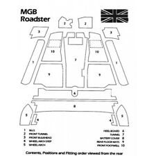 New Black Carpet Kit for MGB MGC Roadsters 1968-1980 Factory Made in England