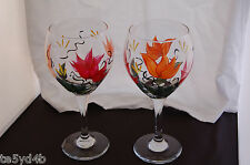 Hand Painted Fun Colors Design Wiine Glasses