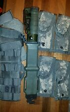 Ontario Fighting Knife M9 Scabbard USA USGI Military Leg Extender 4 Mag Pouches