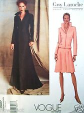 Vogue Pattern 2607 PARIS DESIGNER Guy Laroche Jacket & Skirt UNCUT Sz 6-8-10