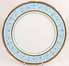"""2 FAB ANTIQUE MINTON G5790 9 3/8"""" PLATES RAISED GOLD ENCRUSTED TURQUOISE JEWELED"""
