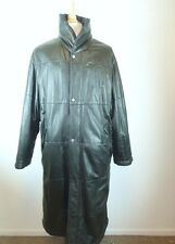 SALVATORE FERRAGAMO ITALY BLACK LEATHER LONG PUFFER COAT REVERSIBLE I54 L XL