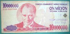 TURKEY 10000000 10 000 000 LIRA NOTE, P 214, issued 1999 , PIRI REIS MAP