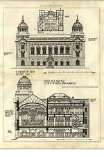 1902 Design For Townhall Smaller London Municipality Alfred Bossom