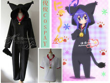Anime Acchi Kocchi Black Cat Jumpsuits Miniwa Tsumiki Cosplay Costume Any Size