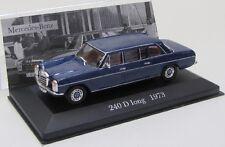 Mercedes Benz 240 D lang / W115 ( 1973 ) blau / IXO 1:43