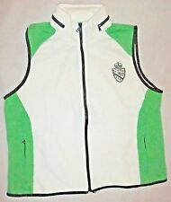 NWOT RALPH LAUREN ACTIVE Womens Zip up Golf Vest~Hidden Hood-Sz XL-Green & White