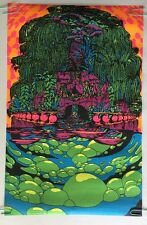 Vintage Blacklight Poster Another Land Third Eye Psychedelic Pinup Headshop 1970