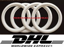 "ATLAS 15"" White Wall Portawall Rubber ring insert trim 4pcs VW BUG PRE BEETLE"