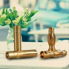 50 Sets 4.0mm 4mm Gold-plated RC Battery Bullet Connector Banana Plug