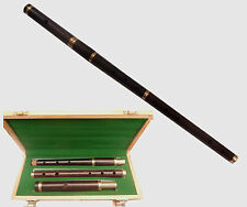 BRAND NEW PROFESSIONAL IRISH D FLUTE EBONY/AFRICAN BLACKWOOD IN WOODEN HARD CASE