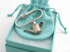 Tiffany & Co Silver Watering Can Garden Fire Hose Keychain Key Ring Chain!