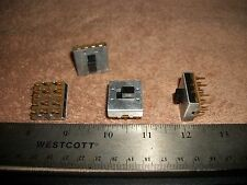 LOT OF 4PDT  3A@125V SLIDE SWITCHES-RADIOS-STEREOS! S