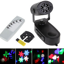 DJ Disco Party Club 3D Rotating Laser Projector LED RGB Effect Stage Light Lamp