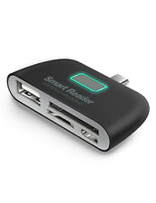 Micro USB 2.0 OTG charging Adapter, LDesign 4-in-1 Micro SD Card Reader (Black)