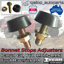 Pair Bonnet Stop Adjusters Bump Patrol GQ Y60 Ford Maverick Bumper Stopper 88-97