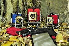 BANCO OTTICO FOLDING CAMERA 8x10 inc+1 FILM HOLDERS or 1 CHASSI 20X25CM COLLODIO