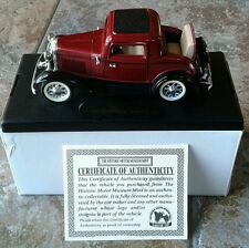 Customized 1932 Ford V8 DeLuxe 3 Window Coupe Historic Motor Museum MINT