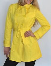 New Womens Kenneth Cole Trench Coat Rain Coat Yellow Size 2XL