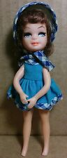 "Uneeda Tiny Teen Mini Doll 5"" Turquoise Fun Time 1967 Topper Dawn Clone"