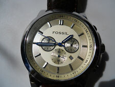 Fossil men's chronograph brown leather band Analog battery Quartz watch.Fs-4248