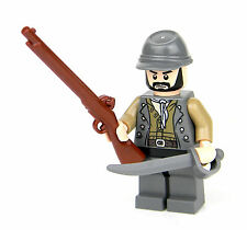 custom LEGO(R) Army Confederate CSA Soldier with Custom Musket