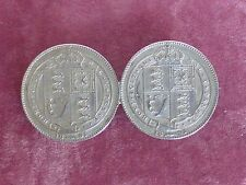 Vintage jewellery silver shillings Victoria 1887 coin brooch