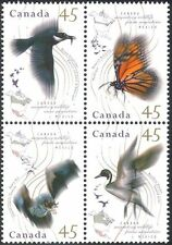 Canada 1995 Migratory Animals/Birds/Butterfly/Bat/Nature error blk  (n19554)