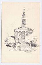 PETERSBURG VA old Hustings Court House in Pen and Ink postcard