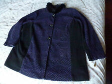 BOB MACKIE WEARABLE ART PURPLE BLACK JACKET 3XL