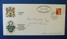 1995 CARDIFF RFC HEINEKEN CHAMPIONS COVER SIGNED BY HUW AND JACK BOWCOTT