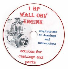 Elmer Wall 1HP ! cyl gas engine, build yourself  1950, CD-ROM hit & miss !