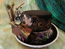 "OOAK Harry Potter ""Fantastic Beasts"" Wizard Steampunk Top Hat - LIGHTS UP!"