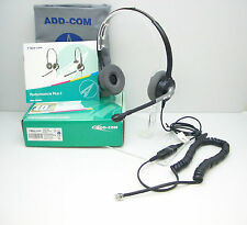 AddCom ADD880 Headset for GrandStream GXP-2130 2140 2160 & Avaya 1608 1616 9620
